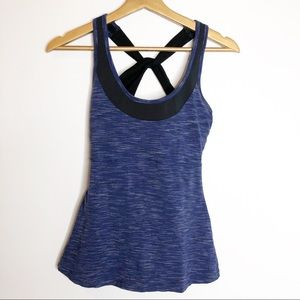 Lucy- Blue Racerback Sports Tank Top
